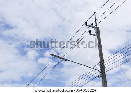 Electricity Post - stock photo