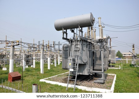 Electricity Power Station. - stock photo