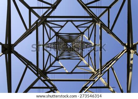 Electricity pylon - stock photo