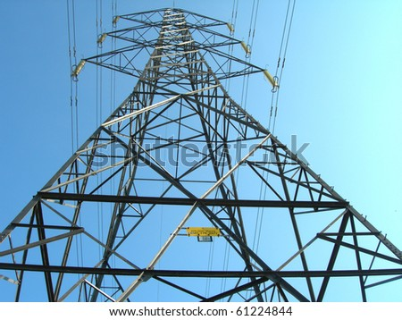 Electricity pylon 3 - stock photo