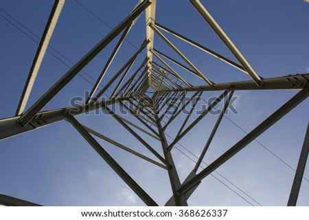 Electricity Pylon. Inside view