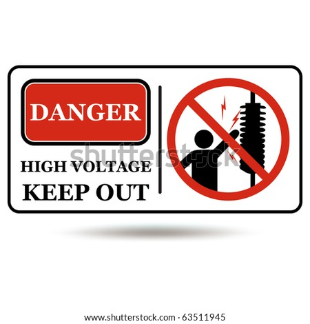 Electricity Sign - stock photo