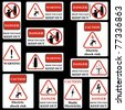 Electricity sign set. - stock photo