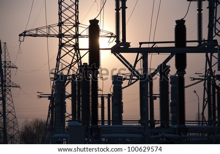 Electricity substation �¢?? sun buck from - stock photo