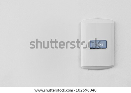 Electricity switch with I LIKE button
