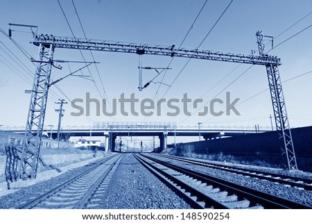 electrification railway contact net steel column, north china