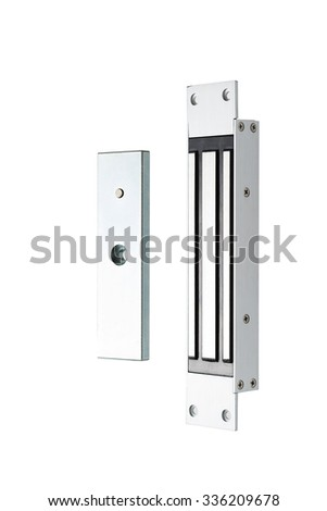 Electromagnetic door lock for protection of public and private placements - stock photo