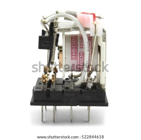 electromagnetic relay without protection cap