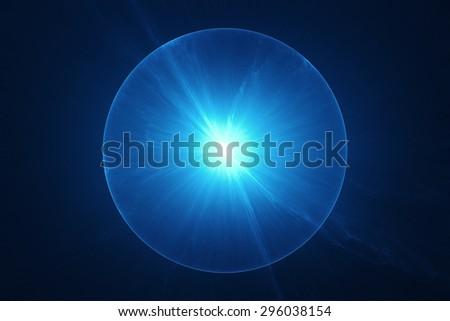 Electromagnetic sphere background - stock photo
