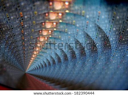 electronic background - stock photo