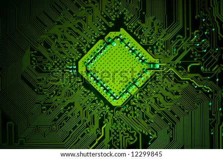 Electronic background texture - stock photo