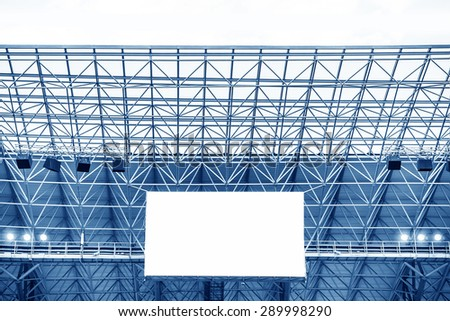 Electronic billboard display at stadium. Isolated for your text or image. - stock photo