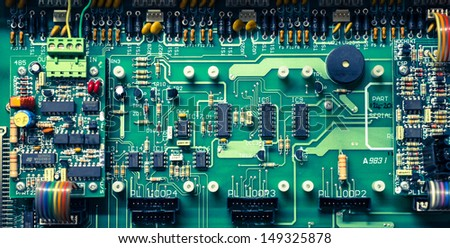 Electronic board - stock photo