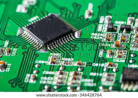 Electronic Board. Small depth of field