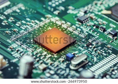 Electronic Board with heated processor