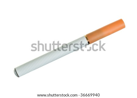 Electronic cigarette over white background