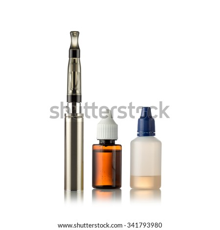 Electronic cigarettes isolated on white