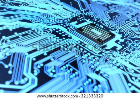 Electronic circuit - stock photo
