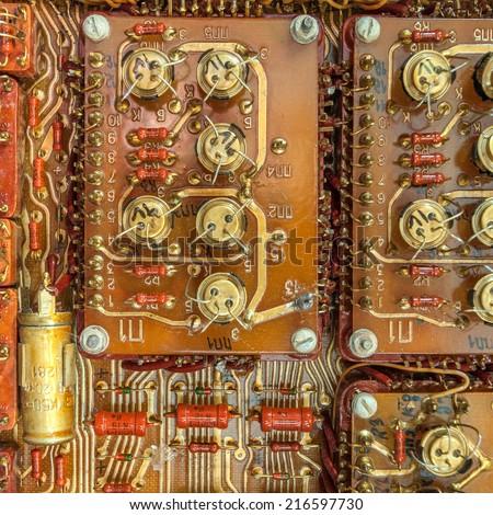 Electronic circuit board - stock photo