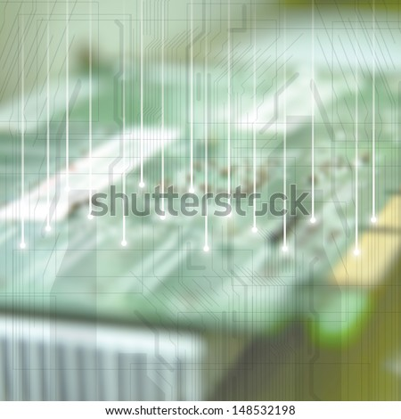 Electronic circuit board background  - stock photo