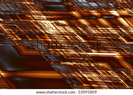 Electronic circuit board. Computer-generated image - stock photo