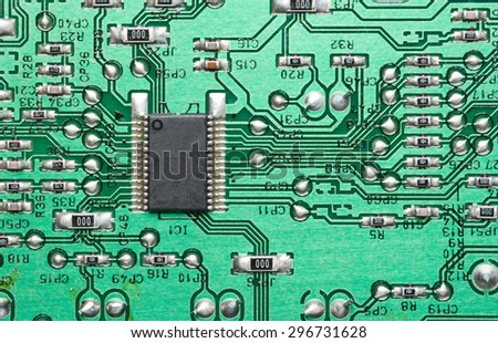 Electronic circuit for pattern and background. - stock photo