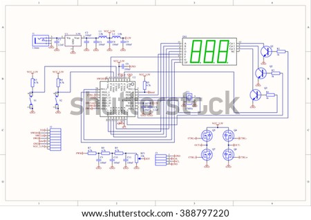 Electronic circuit schematic of embedded system