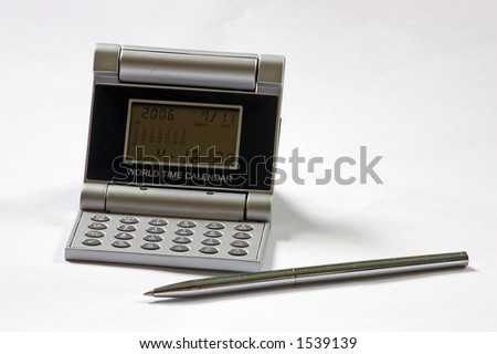 Electronic clock and pen