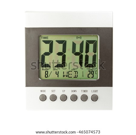 electronic clock on a white background