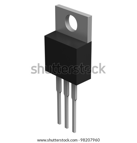 Electronic component in TO-220 package - stock photo