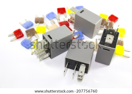 Electronic component part isolated with white background Stock Photo