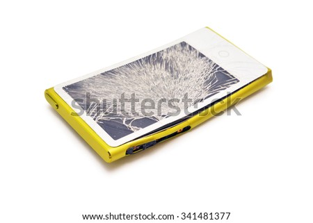 electronic device with broken touchscreen