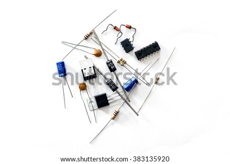 Electronic devices and accessories for repair electronics equipment. - stock photo