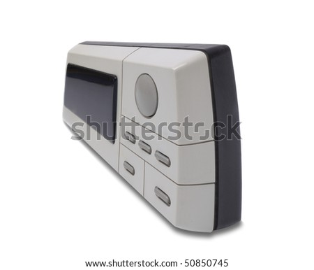 Electronic digital watch. Isolated object on a white background