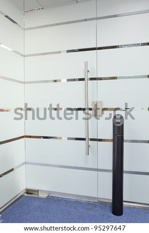 Electronic door lock system - stock photo