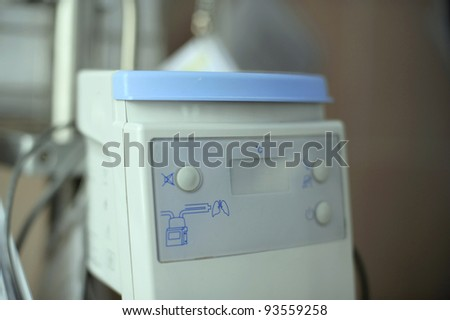 Electronic equipment for lungs at maternity clinic - stock photo