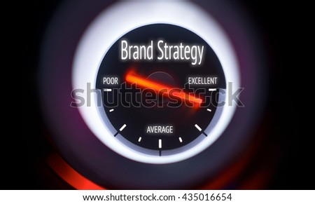 Electronic gauge displaying a Brand Strategy Concept