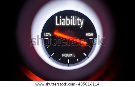 Electronic gauge displaying a Liability Concept