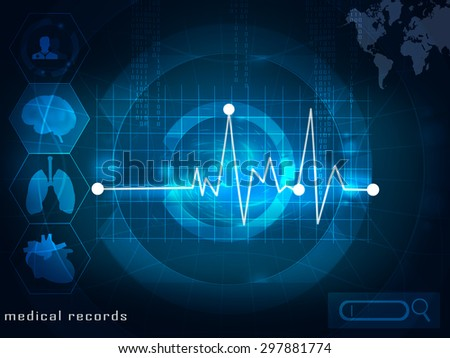 electronic medical records - stock photo