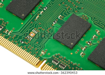 Electronic memory chip of computer