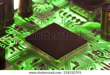Electronic microcircuit and microchip