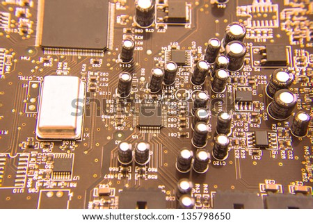 electronic products--the detail of the soundcard which broken by thunderstrike