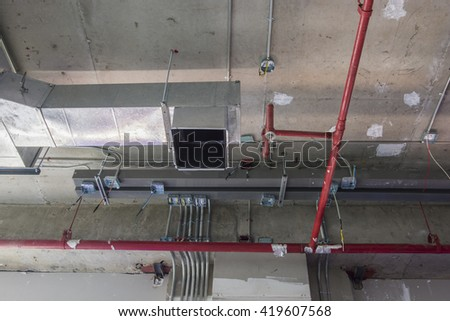 Electronic Systems Building. - stock photo