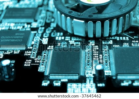 electronic technology - stock photo