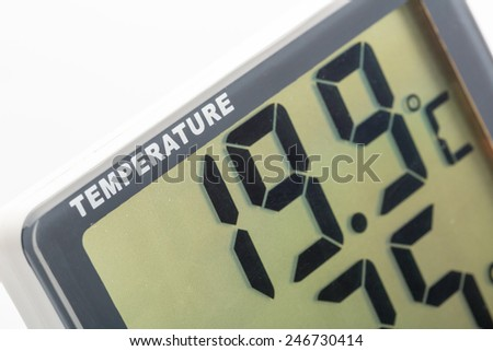 Electronic thermometer closeup - stock photo