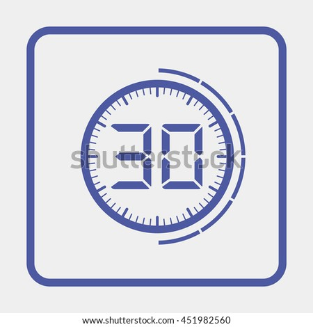 Electronic timer 30 seconds - stock photo