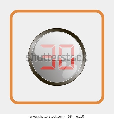 Electronic timer 30 seconds. - stock photo