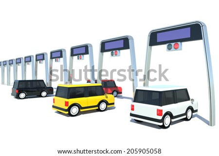 Electronic toll collection system of Japanese-style - stock photo