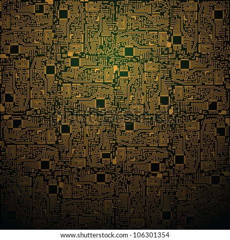 Electrotechnical square pattern - industrial background - stock photo