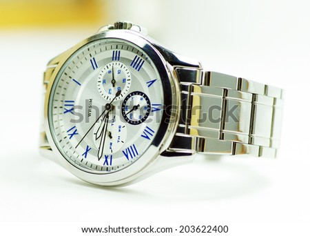 Elegance and beautiful wristwatch - stock photo